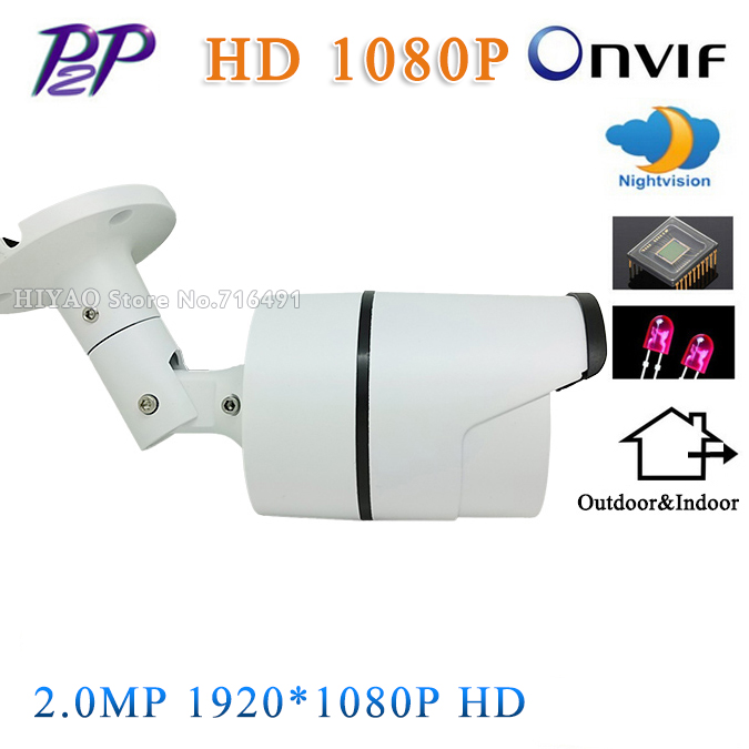 NEW Original IP Camera 2.0 MP 1080P Security Camera CCTV 36PCS LED ONVIF Camera IP Aluminum Metal Waterproof Outdoor Bullet original hikvision 1080p waterproof bullet ip camera ds 2cd1021 i camera 2 megapixel cmos cctv ip security camera poe outdoor