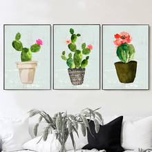 Watercolor Cactus Tropical Succulent Wall Art Canvas Painting Nordic Posters And Prints Pictures For Living Room Home Decor