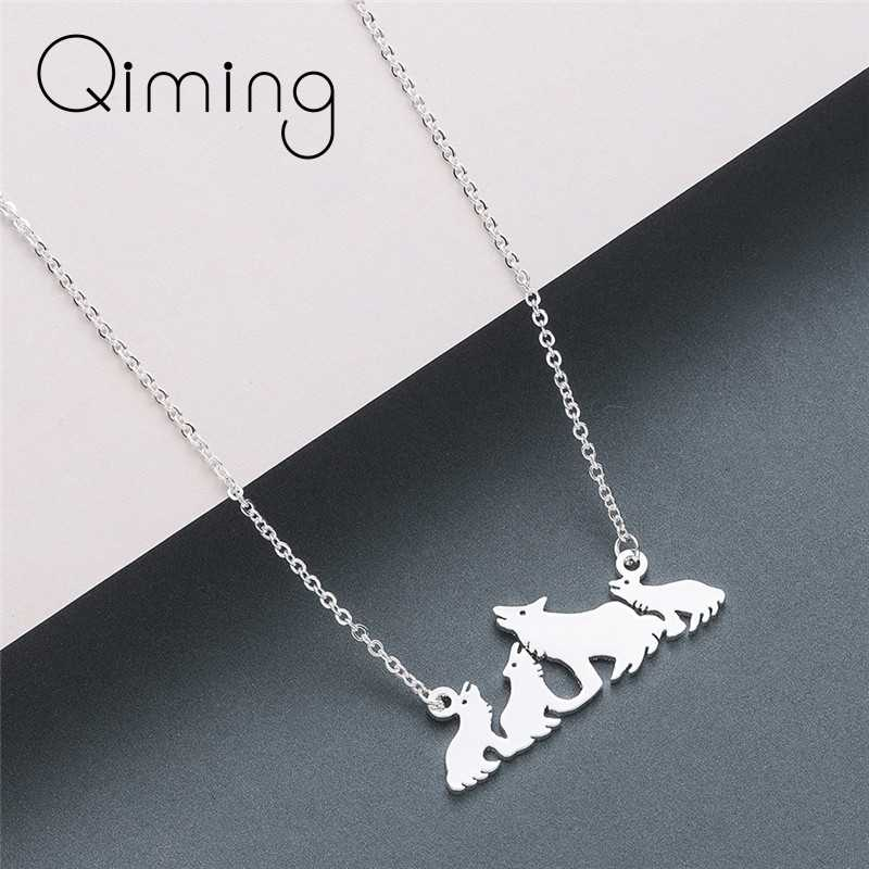 Teen Wolf Necklace for Men Male Stainless Steel Vintage Jewelry Tibetan Wolves Silver Women Pendant Necklace Female