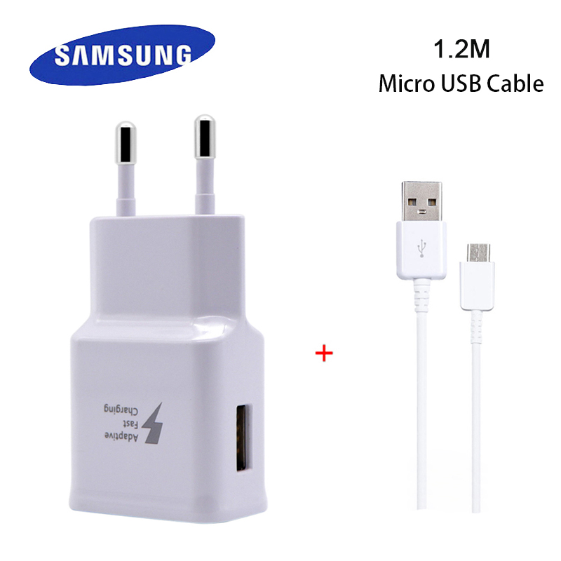 Samsung Original Business Quick Charger EU Plug With 1.2m Micro USB Cable for Galaxy S6 S6+ S6P S7 S7P Note4 5 Travel Charging