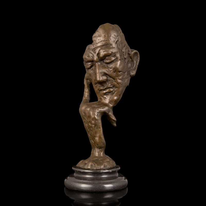 atlie bronzes modern art sculpture figurine gifts antiques abstract face shape bronze statue. Black Bedroom Furniture Sets. Home Design Ideas