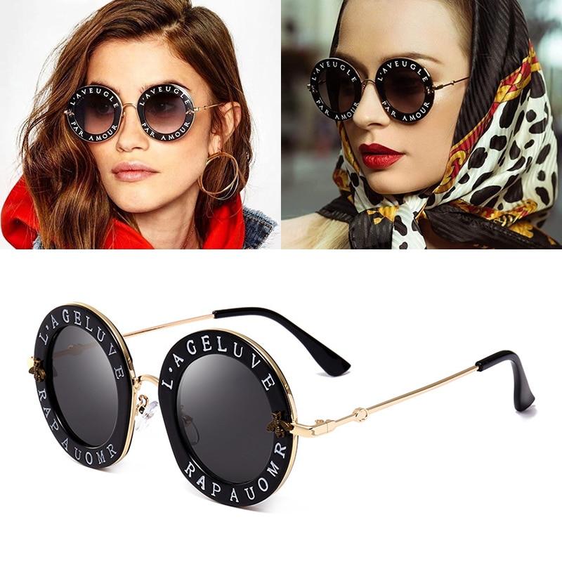 JackJad 2018 Fashion Women Bees Decoration Sunglasses