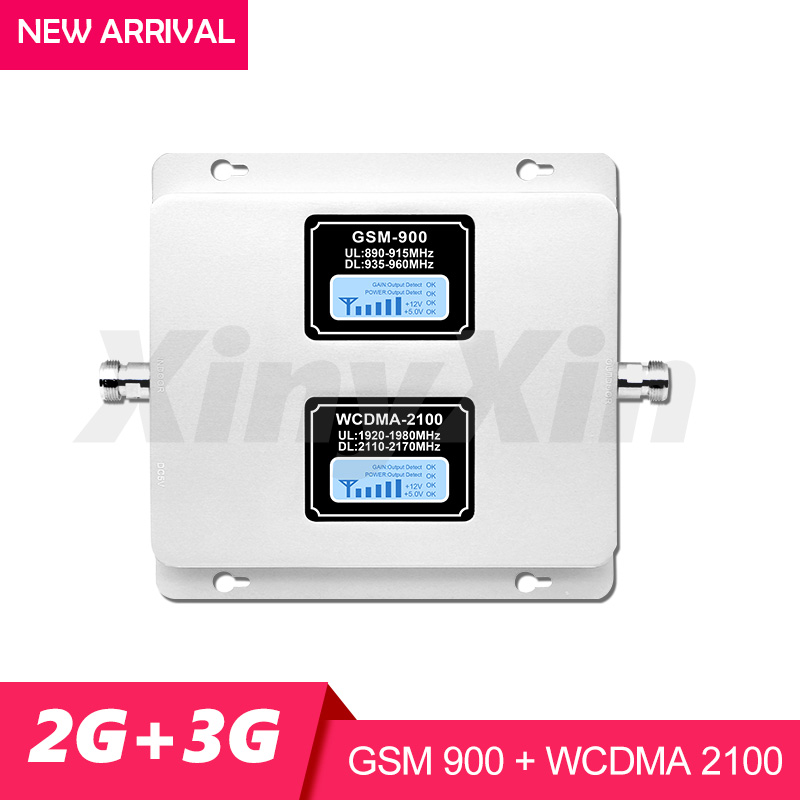 Gain 70dB 2G 3G Mobile Signal Booster UMTS GSM 900mhz WCDMA 2100 mhz Cell Phone Signal