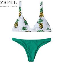 a0e528918b ZAFUL Bikini Set Summer Swimwear Biquini Pineapple Print Women Sexy Beach  Swimsuit Bathing Suit Bikini Maillot De Bain