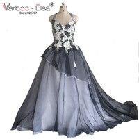 Gorący Sprzedawanie Długa Czarna Suknia Wysoki Niski Prom Dress Plac kołnierz Tafta Puffy Dubaj Suknia Ball Suknie Szaty De Wieczór