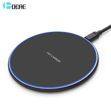 DCAE Qi 10W Quick Wireless Charger for iPhone XS Max XR X 8 Plus USB Fast Charging Pad For Samsung Note 9 S9 S10