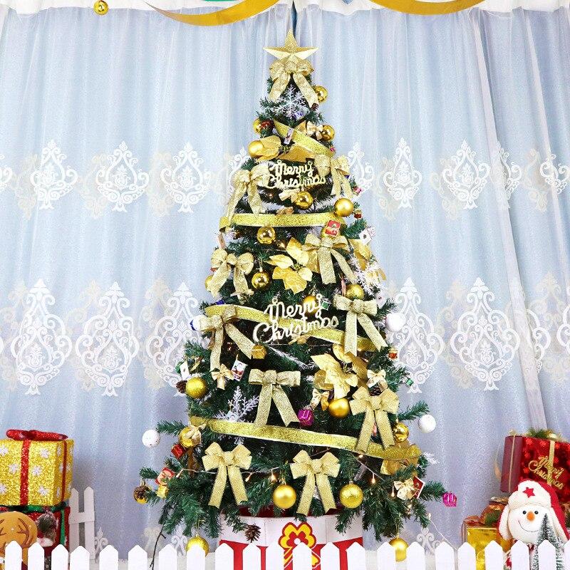2.1 m arbre de noël ensemble grand luxe cryptage vert costume décoration de noël hôtel centre commercial disposition arbre de noël ornements cadeaux