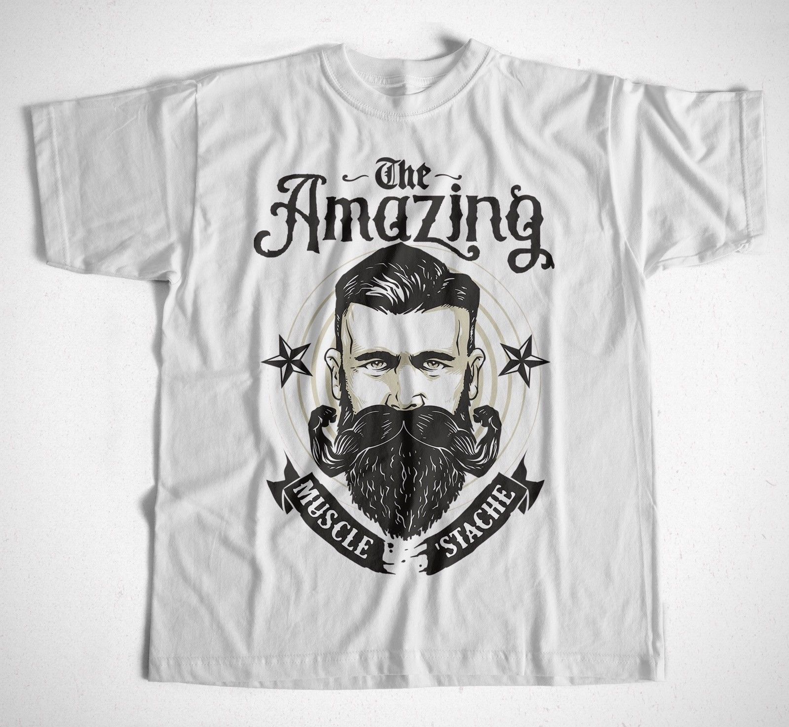 T-Shirt The Amazing Bart Beard Ombre Sombrero Barber Barbier Shop Casual Plus Size T-Shirts Hip Hop Style Tops Tee S-3Xl