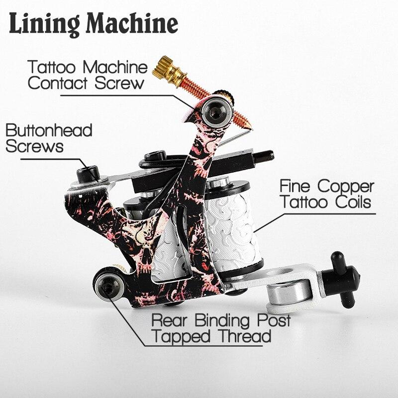 Kit de tatouage professionnel 2 mitrailleuse 20 encres de couleur alimentation électrique Kits de tatouage complets Machine à tatouer Kit de Microblading ensemble de tatouage - 5
