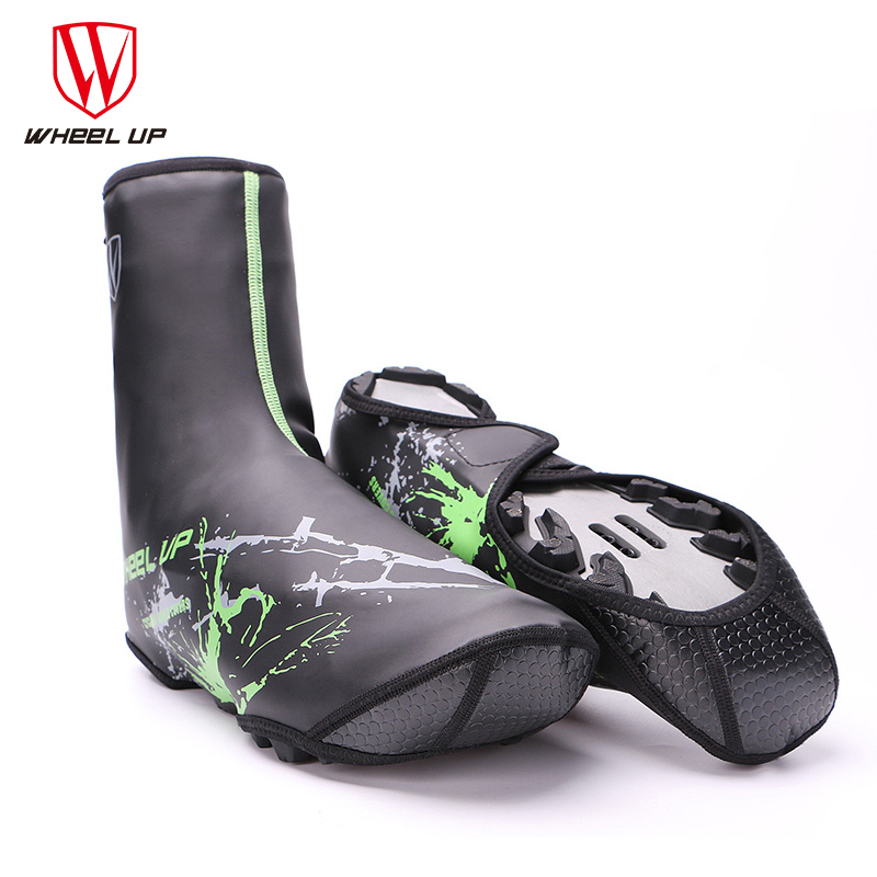 WHEEL UP New Winter PU Waterproof Cycling Shoe Covers Bicycle Warm Overshoes Fundas Riding Equipment For MTB Mountaint Road Bike