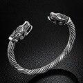 LAKONE Teen Wolf Kopf Armband Indischen Schmuck Mode Zubehör Viking Armband Männer Armband Manschette Armbänder Für Frauen Armreifen