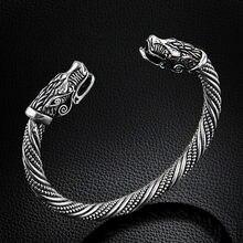 Lakone adolescente lobo cabeça pulseira indiana jóias moda acessórios viking pulseira masculino pulseiras para mulheres pulseiras