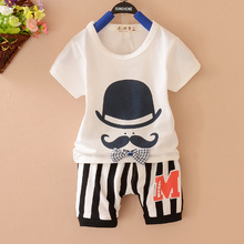 YiErYing  2Pc Summer Newborn Clothes Suits New 2018 Short Sleeve Cotton T-shirt+Pant For Baby Boy Girl Outfit Kids Clothing Set 2pcs toddler kids baby boy girl clothes set 2017 summer short sleeve cotton t shirt top shorts hot pant outfit children clothing