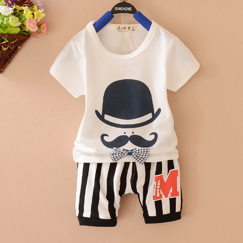 YiErYing 2Pc Summer Newborn Clothes Suits New 2018 Short Sleeve Cotton T-shirt+Pant For Baby Boy Girl Outfit Kids Clothing Set