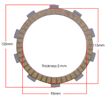 Scooter Motorcycle Clutch Friction Plates Kit For HONDA FZ250 400 Friction Clutch Disc Engine Part Plate Clutch Kit 250cc 400CC motorcycle cylinder kit 250cc engine for yamaha majesty yp250 yp 250 170mm vog 257 260 eco power aeolus gsmoon xy260t atv
