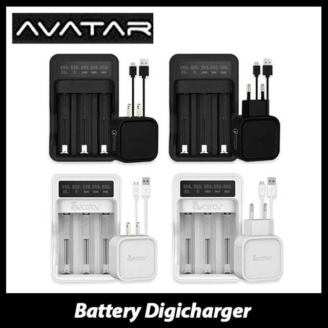 Original Avatar Intelligent Battery Digicharger 18650/26650 Battery Charger Avatar QC2.0 Quick Charger for Rechargeable Battery