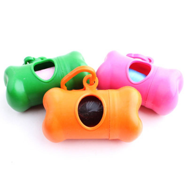 1 PC Pet Dog Bags Portable Dispenser Bone Type Case For Pet Waste Bags Products For