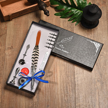 цены Dip Ink Business Signature Fountain Pen Set Vintage Feather Pen For Writing Birthday Creative Gift Office Supplies Gift Box SET