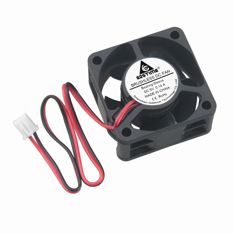 2pcs Gdstime 4cm DC <font><b>5V</b></font> 40mm x <font><b>20mm</b></font> Plastic Small Brushless Cooling <font><b>Fan</b></font> 40x40x20mm 2Pin 4020 image