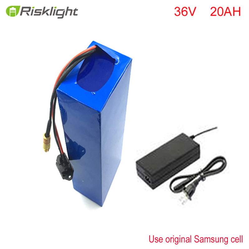 36V 20Ah Lafree Electric Bike Battery 36v 1000w Rechargeable Lithium ion Battery with Charger Brand BMS For Samsung cell liitokala battery pack 36v 6ah 10s3p 18650 battery rechargeable bikes modified protection of the electric vehicle 36v with pcb