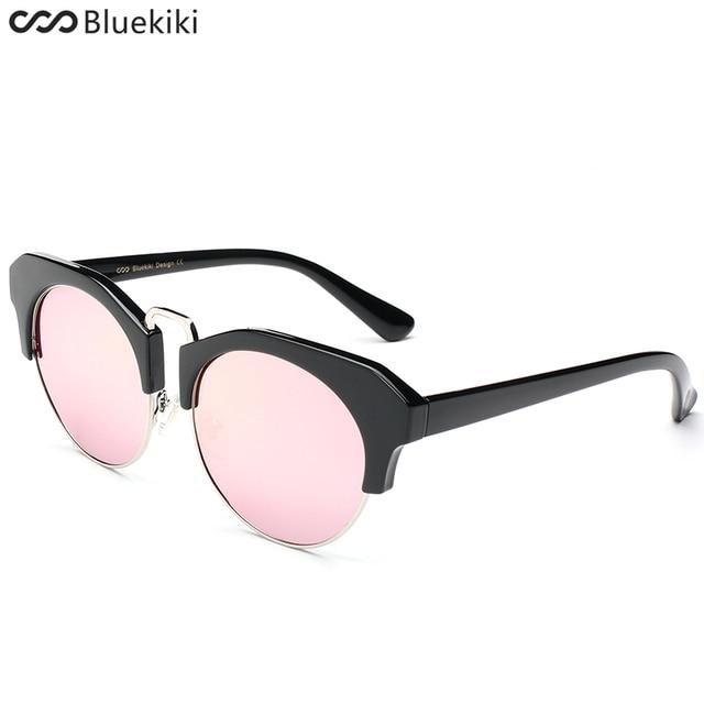 90a6393bd7 KIKI 2017 Women Men Sunglasses Metal Bridge Round Polarized Sunglasses  Semi-Rimless oculos de sol