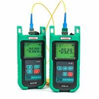 Multimodo 850/1300nm fuente de luz de fibra óptica KLS-35 con medidor de potencia de fibra óptica KPM-35 OPM combinado