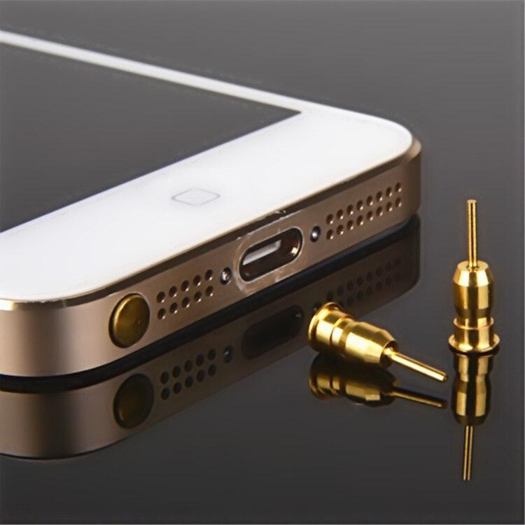 10pcs/lot Dustproof Plug For iPhone Smart Phone Anti Dust plug 3.5mm Earphone Jack & Sim Card Needle Mobile Phone Tool Tray