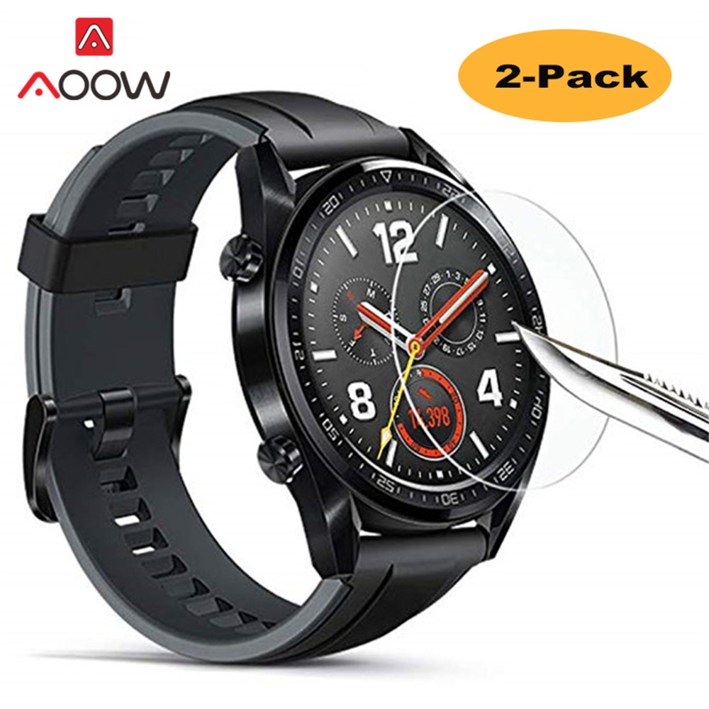 2pcs Tempered Glass For Huawei Watch GT 46mm 42mm Screen Protector Cover Protective Film Guard Anti Explosion Scratchproof