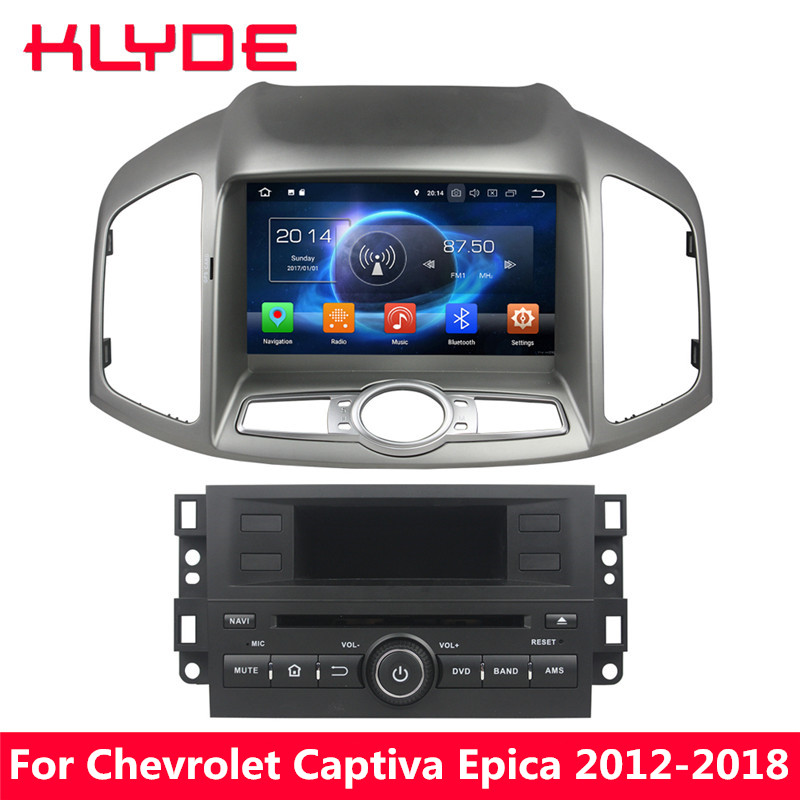 KLYDE 8 4G WIFI Octa Core Android 8.0 7.1 4GB RAM BT Car DVD Player Radio GPS Navigation For Chevrolet Captiva Epica 2012 2018