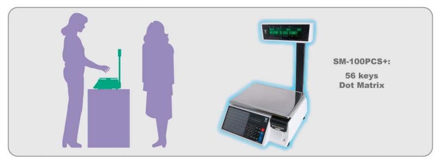 DIGI SM100PCS Plus Label Printing Scale Price Computing Electronic Scale  SM110P+ Digital Balance for Deli Meat Retailers
