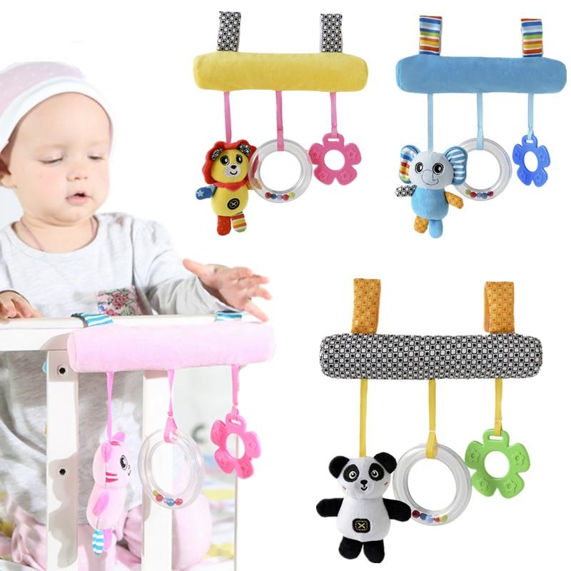 Babyplay Toy Muziek Bed Veiligheid Seat Opknoping Pluche Rammelaar speelgoed Bell Multifunctionele Pluche Kinderwagen Mobiele Geschenken 20% korting