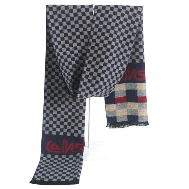 Новый 2016 зима Имитация кашемира шарф мужчин классический бренд плед шарфы Мужские Дизайн уютный теплый длинный хлопок Кисточкой шарф воротник