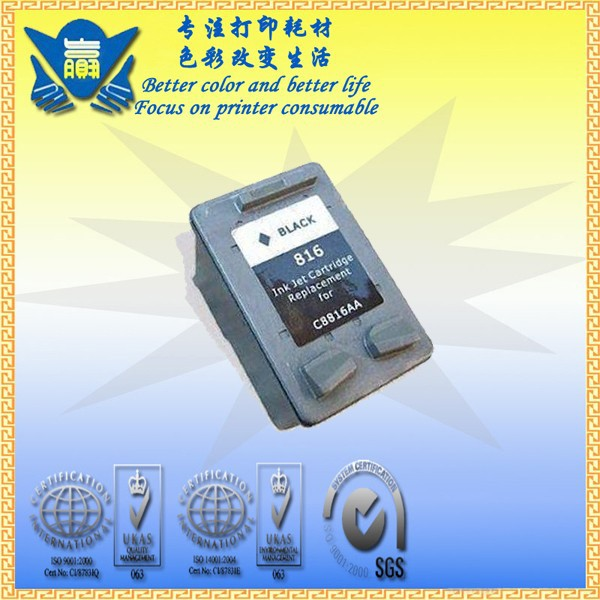 JIANYINGCHEN Remanufactured ink cartridge replacement for HP816 for inkjet printer 3538 3558 3658 3668 3748 3848 5168(2pcslot)