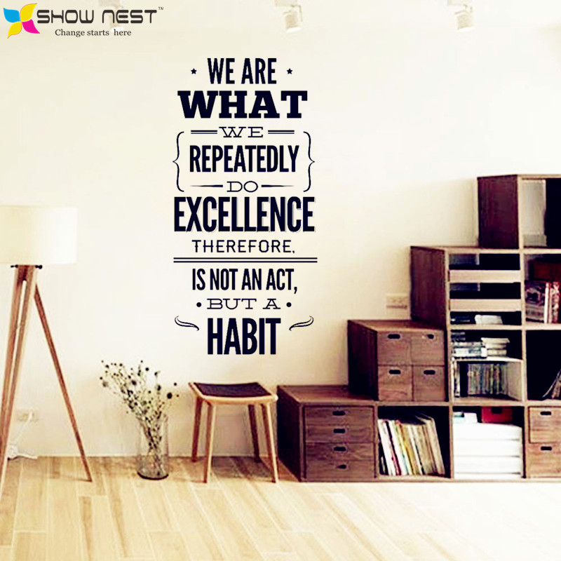 Office quotes wall decal vinyl sticker office mural decor inspirational stickers motivational decals size 57 x 120 cm in wall stickers from home garden on