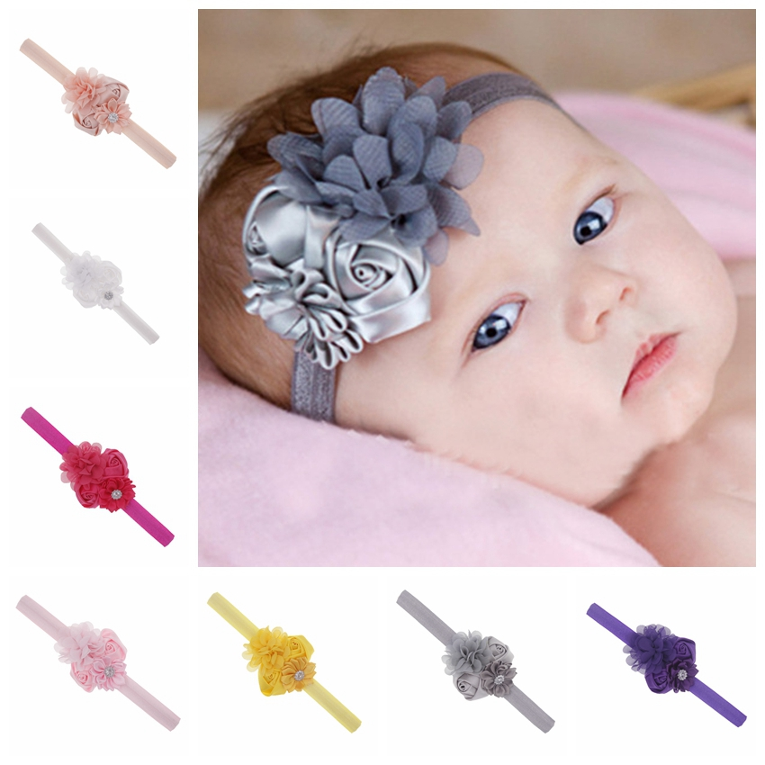 2018 newborn Headband Hair band For girls Colorful Flowers Headbands Kids children Hair Accessories   headwear