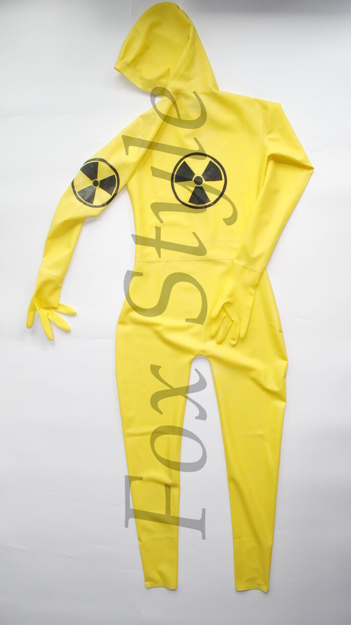 Latex transparent catsuit male's rubber bodysuit yellow color <font><b>SEXY</b></font> LIFE RPG <font><b>army</b></font> man uniforms <font><b>cosplay</b></font> chemical soldier woman image