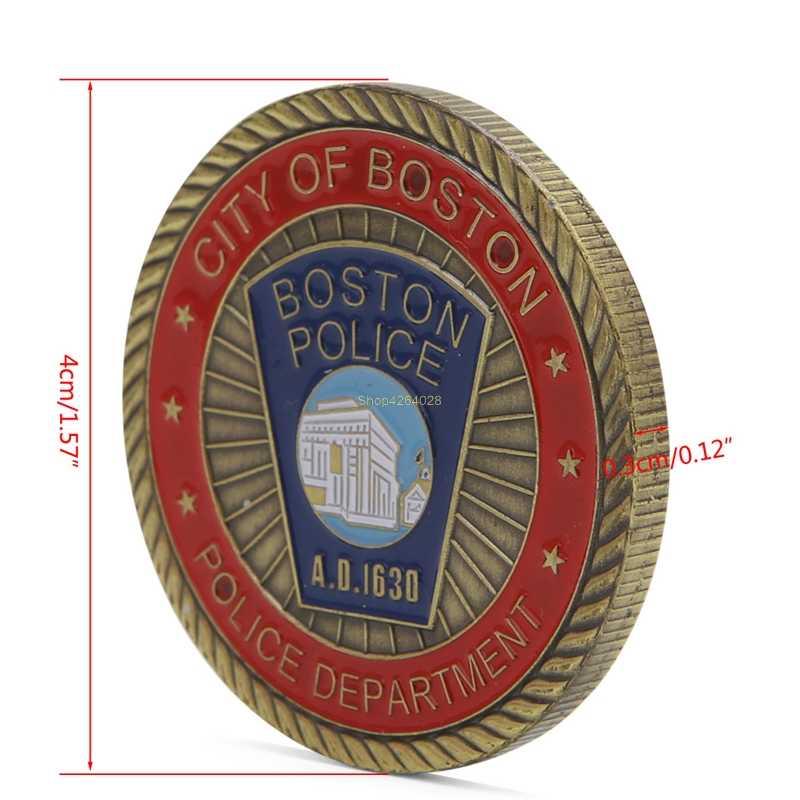 2018 סנט מייקל & בוסטון משטרת הנצחה מטבע אבץ סגסוגת הנצחה מטבע אוסף לא-מטבע מטבעות מתנה JUL18_17