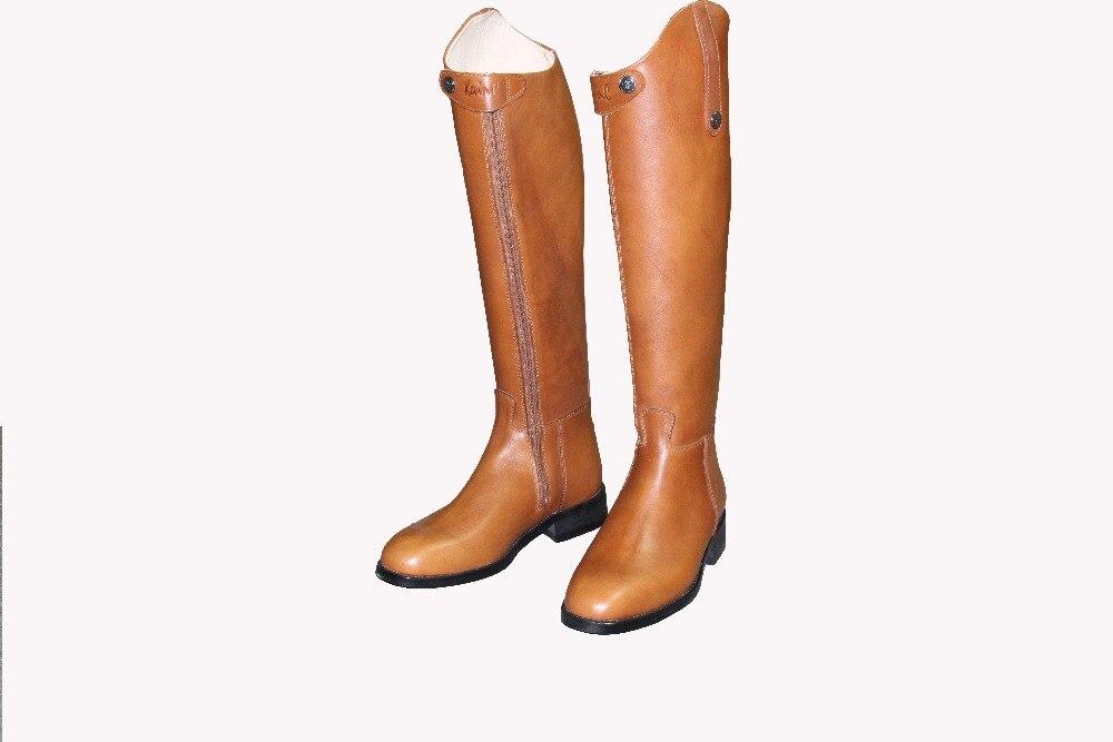 Aoud саддли Верховая езда сапоги Корова кожа платье Сапоги до колена ботинки для конного спорта высокое качество обувь унисекс настроить Хол