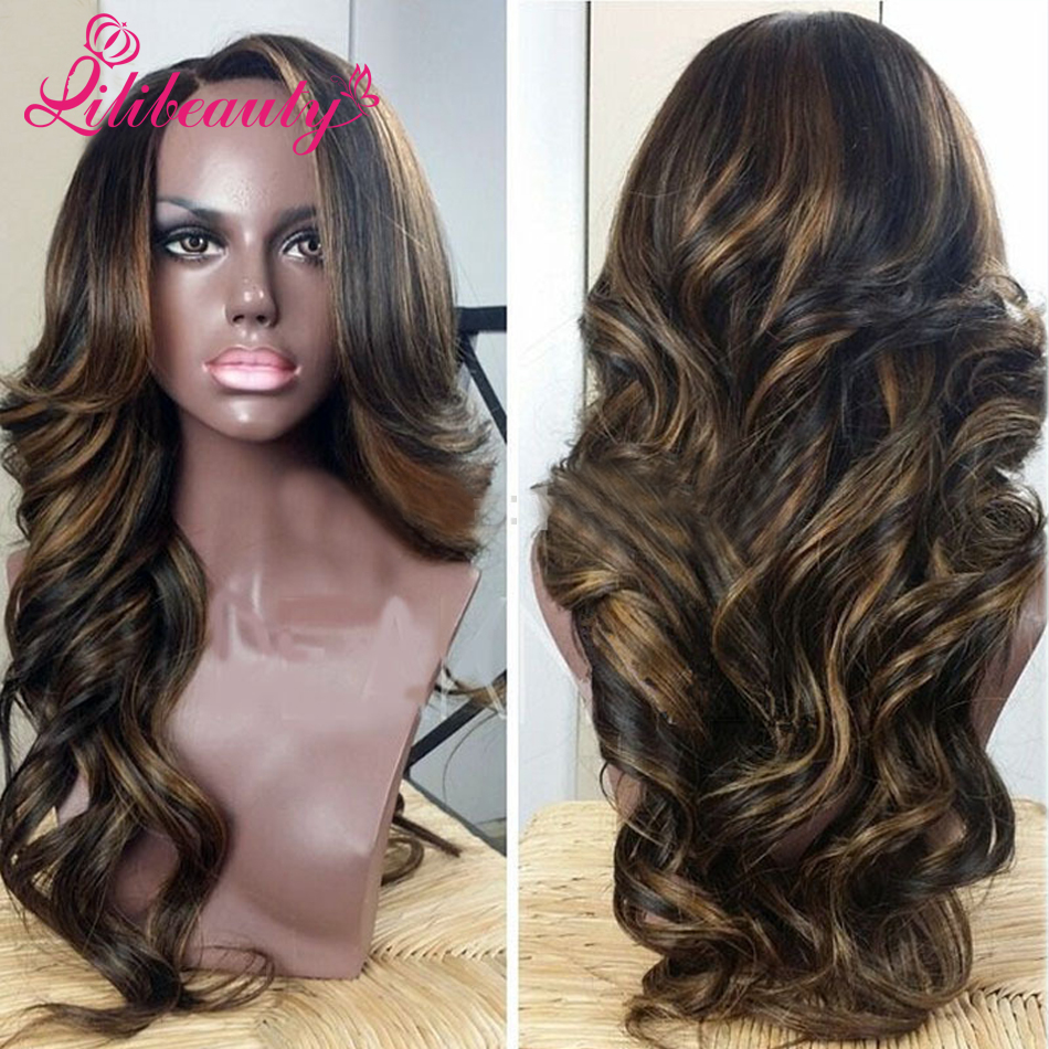 Black women with highlighted hair - Body Wave Lace Wig Peruvian Wavy Full Lace Wigs Highlight Color 1b 8 Unprocessed Virgin Human Hair Lace Front Wigs Black Women In Human Hair Lace Wigs From