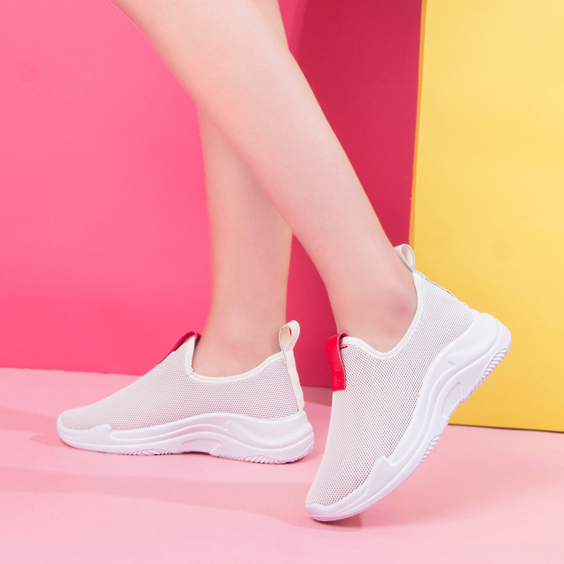 Walking white shoes womens breathable mesh shoes womens lazy shoes Korean version of the wild walking shoes A8R1-A8R4Walking white shoes womens breathable mesh shoes womens lazy shoes Korean version of the wild walking shoes A8R1-A8R4