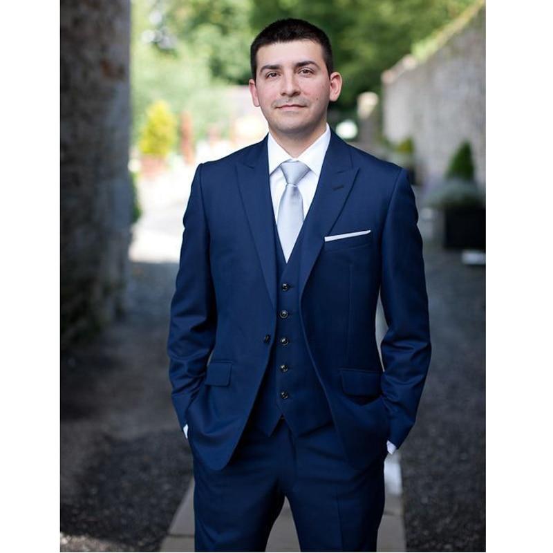 Tailored Men/'s 3 Pieces Wedding Grooms Tuxedos Best Man Groomsman Slim Fit Suits