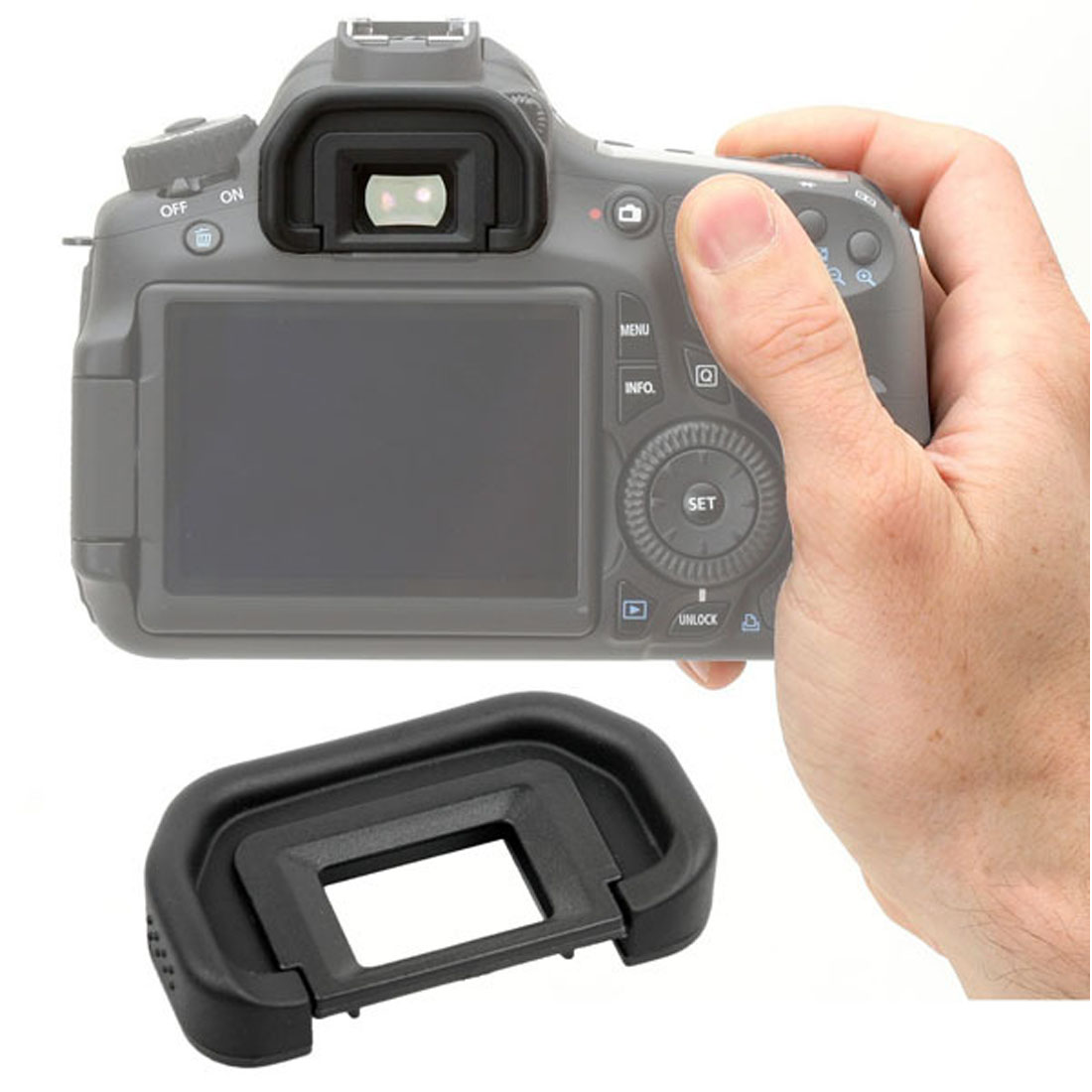 centechia Brand Camera Rubber Eye Cup EyeCup Eyepiece for Canon EOS 60D 50D 5D Mark II 5D2 40D 30D 20D 10D 1100D 1000D jjc eye shape eyepiece soft eyecup for canon eos 5d mark ii 5d 6d mark ii 60d 50d 40d 77d 800d 1300d replaces eyecup eb ef