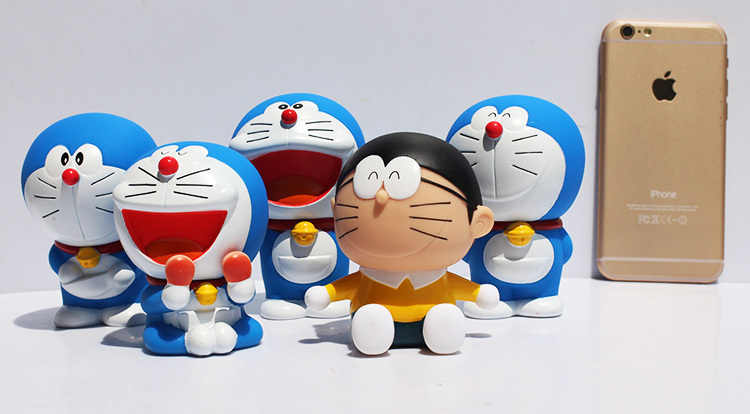 5pcs/lot Japanese Cartoon Doraemon Nobi Nobita PVC Dolls Figure Model Toy Christmas Gift For Children