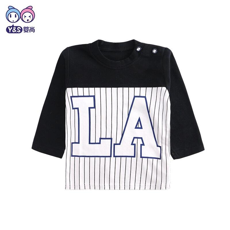 Wisbibi Baby Boys T shirt Children Clothing Brand Clothes Boys Long Sleeve Tops letter Print Kids T-shirts for Boy Sweatshirt