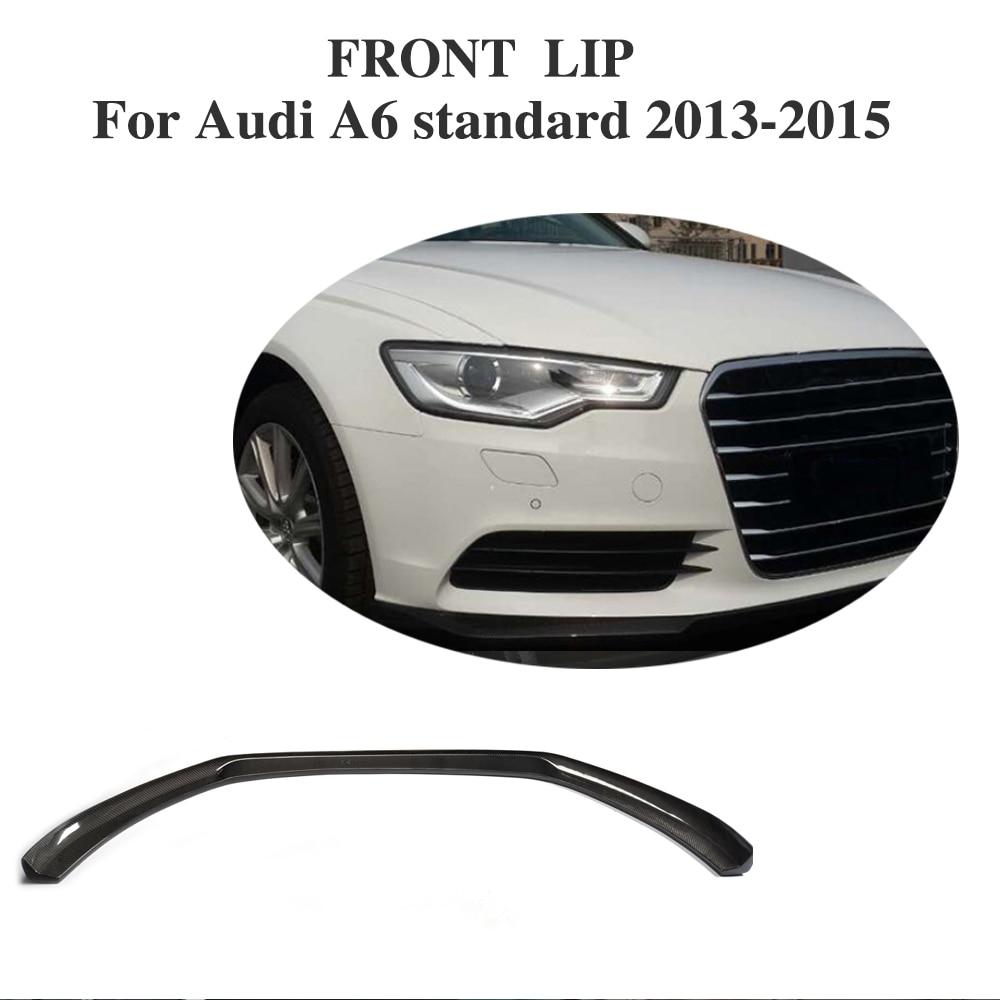 Carbon fiber front bumper lip spoiler for audi a6 c7 facelift 2013 2015 non sline