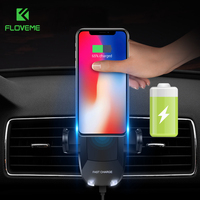 FLOVEME High Tech Design Car Phone Holder Wireless Charger For Samsung Galaxy Note 8 S8 S7