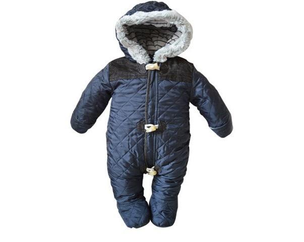 6429472b68bd winter baby boy snowsuit romper toddler cotton one piece suit romper ...