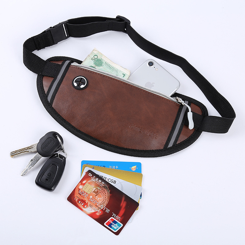 BISI GORO Zipper Pouch Packs Money Phone On Handy Bumbag Fanny Pack For Women Men Waist Bag Colorful Unisex Waistbag Belt Bag