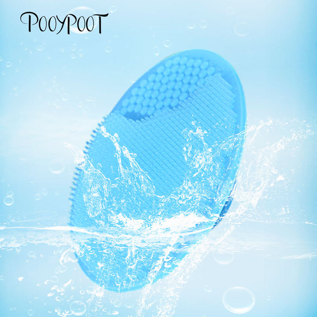 Pooypoot Silicone Cleanser Pads Face Wash Brush Exfoliating Cleansing Blackhead Remover Face Skin Care Tools 5 Colors Available #32948155392
