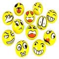 5pcs Modern FUN Emoji Face Squeeze Balls Stress Relax Emotional Hand Wrist Exercise Stress Toy Balls Toy Mar21